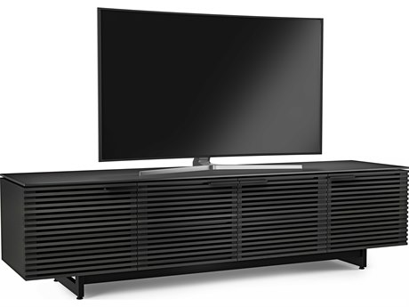 BDI Corridor 79.25''L x 20.25''W Charcoal Stained Ash Quad Width Low TV Stand