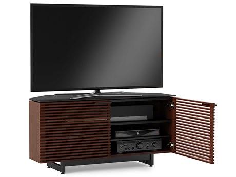 BDI Corridor 50.25'' x 20'' Chocolate Stained Walnut Corner Cabinet TV Stand
