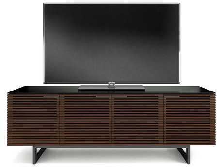 BDI Corridor 79.25'' x 20.25'' Chocolate Stained Walnut Quad Width Tall TV Stand