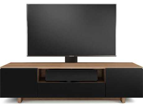 BDI Nora Slim 76.75'' x 22'' Natural Walnut Quad Wide Enclosed TV Stand