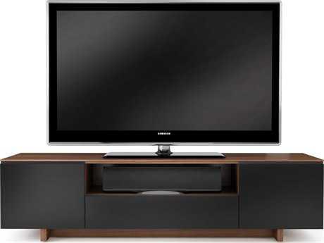 BDI Nora 76.75'' x 22'' Natural Walnut Quad Wide Enclosed TV Stand