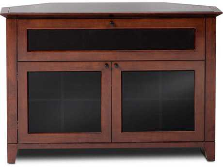 BDI Novia 45'' x 22'' Cocoa Stained Cherry Single Wide Corner TV Stand