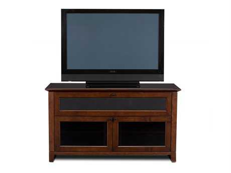 BDI Novia 52'' x 22'' Cocoa Stained Cherry Double Wide Tall TV Stand