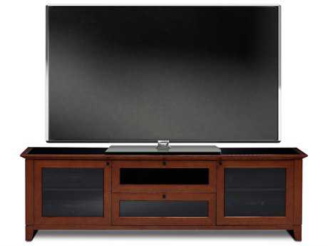 BDI Novia 74'' x 22'' Cocoa Stained Cherry Triple Wide Enclosed TV Stand