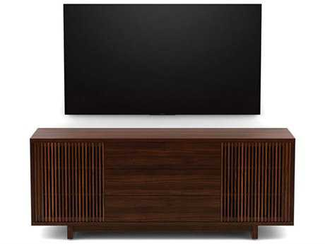 BDI Vertica 73.5'' x 20'' Chocolate Stained Walnut Wide Tall TV Console