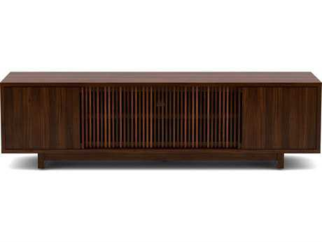 BDI Vertica 79'' x 20'' Chocolate Stained Walnut Low TV Console