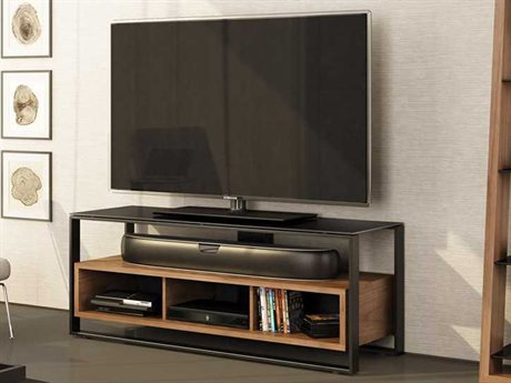 BDI Sonda 58.25'' x 19'' Natural Walnut Triple Width TV Stand