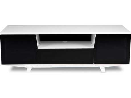 BDI Marina 73'' x 22'' Gloss White Triple Wide Enclosed TV Stand