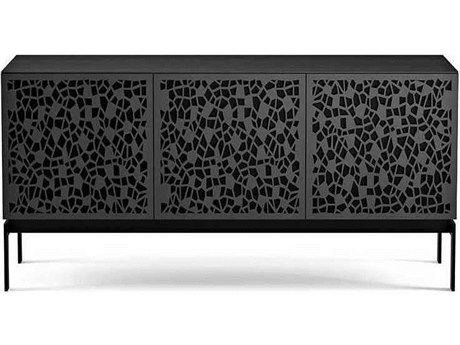BDI Elements Charcoal Stained Ash 59''L x 20''W Triple-Width Media & Storage Console