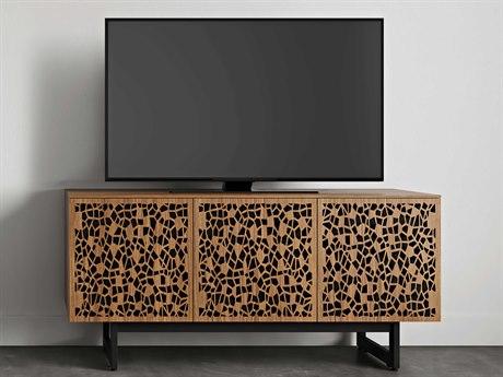 BDI Elements Natural Walnut 59''L x 20''W Triple-Width Media & Storage Cabinet