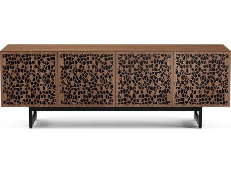 BDI Elements Natural Walnut 79''L x 20''W Quad-Width Media & Storage Cabinet