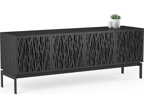 BDI Elements Charcoal Stained Ash 79''L x 20''W Quad-Width Media & Storage Console