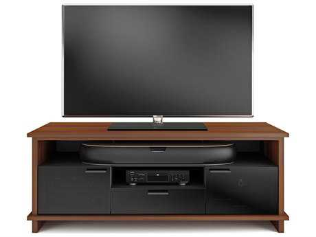 BDI Braden 68.75'' x 20.75'' Natural Stained Cherry Triple Width Tall TV Stand