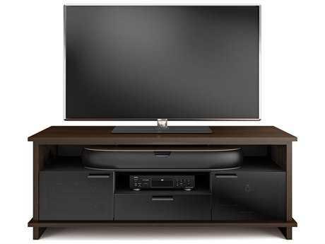 BDI Braden 68.75'' x 20.75'' Chocolate Stained Walnut Triple Width Tall TV Stand