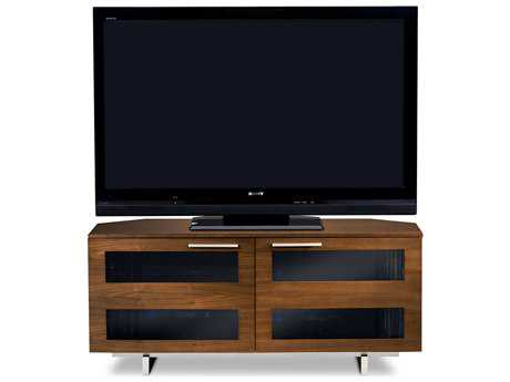 BDI Avion S. II 50'' x 22'' Chocolate Stained Walnut Double Low Corner TV Stand