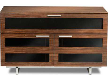 BDI Avion S. II 47.5'' x 22'' Chocolate Stained Walnut Tall Double TV Stand