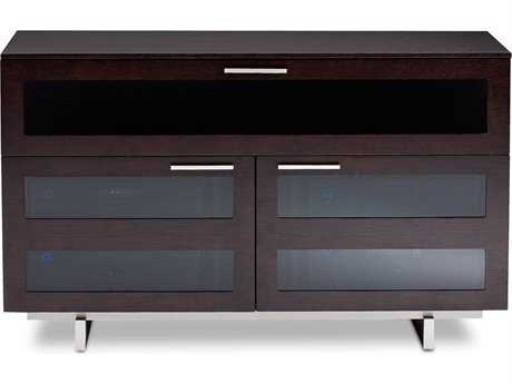 BDI Avion S. II 47.5'' x 22'' Espresso Stained Oak Tall Double TV Stand