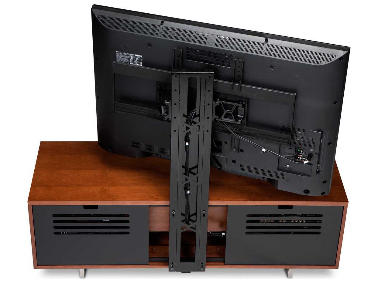 Bdi Arena Gloss Black Free Standing Flat Panel Tv Mount