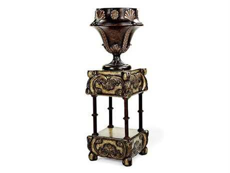 Benetti's Italia Furniture Cathedral Urn with Pedestal