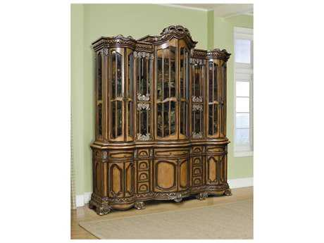 Benetti's Italia Firenza 84'' x 22'' China Cabinet with Hutch