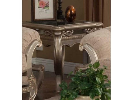 Benetti's Italia Furniture Rosella 26'' Wide Square End Table BFROSELLAENDTABLE