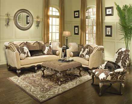 Benetti's Italia Furniture Salermo Living Room Set