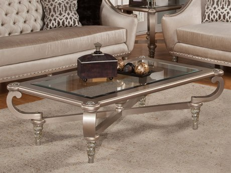 Benetti's Italia Furniture Sofia 64''W x 44''D Rectangular Cocktail Table BFSOFIACOCKTAILTABLE