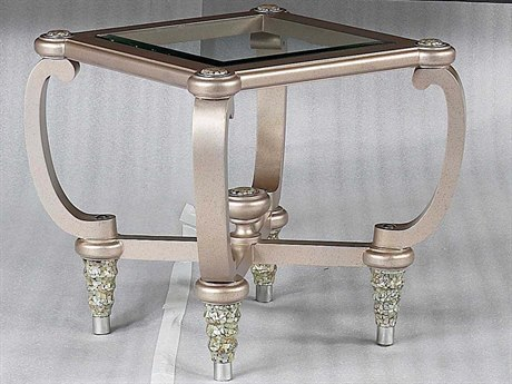 Benetti's Italia Furniture Sofia 30'' Wide Square End Table BFSOFIAENDTABLE