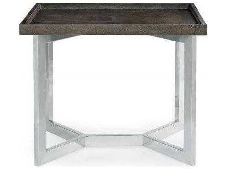 Bernhardt Stratton Brown / Silver 30'' Wide Rectangular End Table BH336126