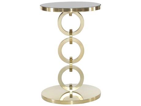 Bernhardt Jet Set Brass 16'' Wide Round Pedestal Table BH356123