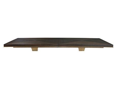 Bernhardt Jet Set Caviar / Gold 90'' Wide Rectangular Dining Table