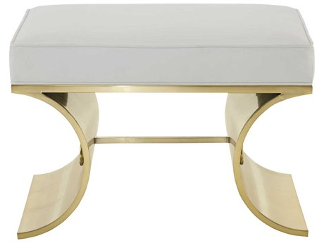 Bernhardt Jet Set Brass Accent Bench