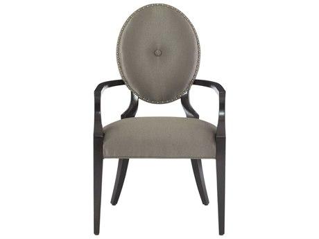 Bernhardt Jet Set Grey / Caviar Arm Dining Chair BH356566