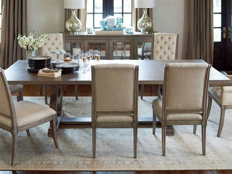 Bernhardt Marquesa Gray Cashmere 88'' Wide Rectangular Dining Table