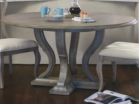 Bernhardt Marquesa Gray Cashmere 60'' Wide Round Dining Table BH359274