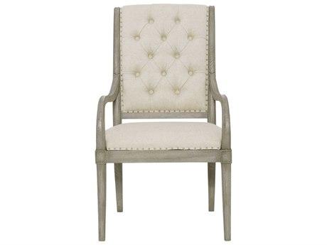Bernhardt Marquesa Gray Cashmere Arm Dining Chair BH359542