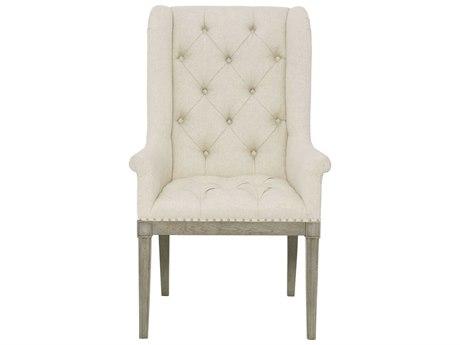 Bernhardt Marquesa Gray Cashmere Arm Dining Chair BH359548
