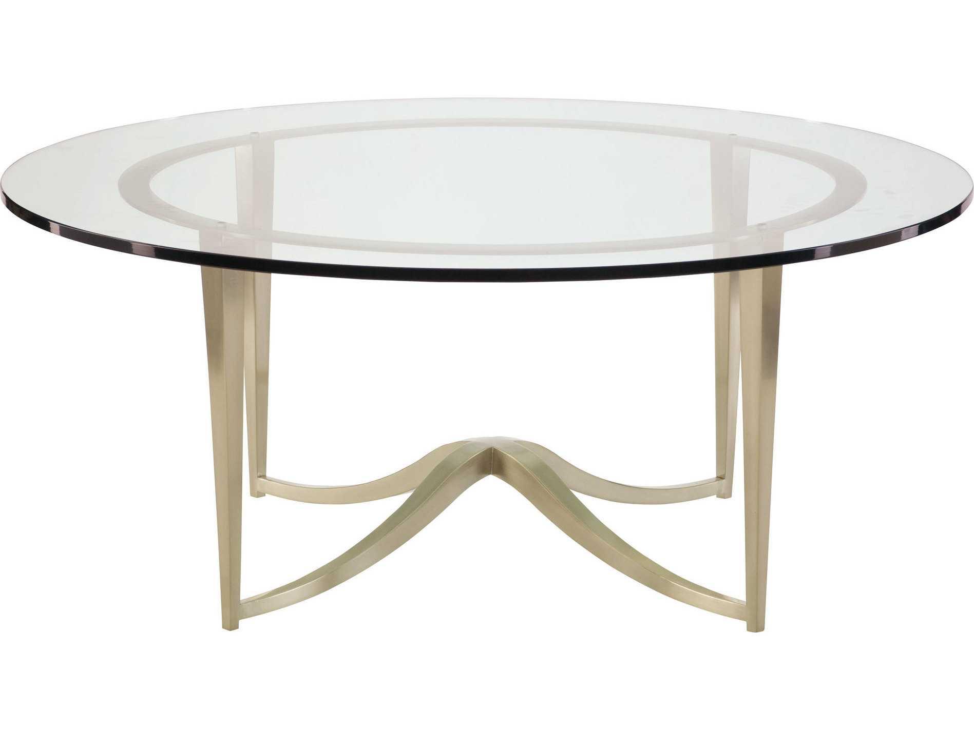 Bernhardt Miramont Argento 46 Wide Round Coffee Table