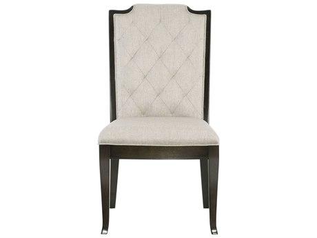 Bernhardt Sutton House White / Black Side Dining Chair