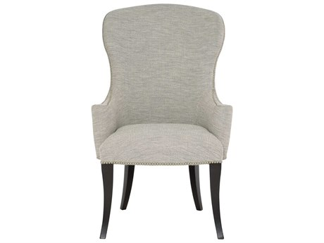 Bernhardt Sutton House Gray / Black Arm Dining Chair