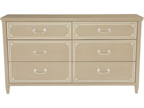 Bernhardt Savoy Place Chanterelle / Ivory Double Dresser 6 Drawers