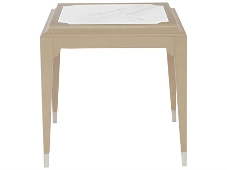 Bernhardt Savoy Place Honed Jazz White / Radiant Silver Chanterelle 24'' Wide Rectangular End Table