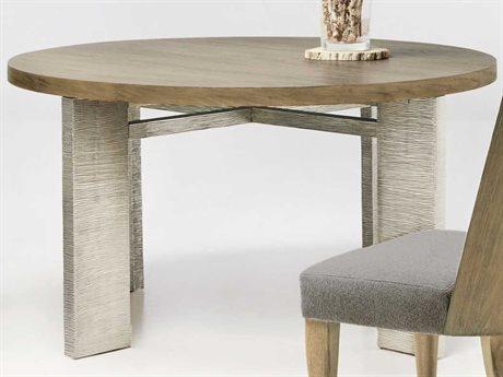 Bernhardt Eldridge Rustic Sand / German Silver 56'' Wide Round Dining Table