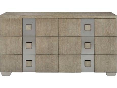Bernhardt Mosaic Dark Taupe 6 Drawers Double Dresser BH373051