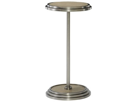 Bernhardt Mosaic Dark Taupe / Blackened Bronze 12'' Wide Round Pedestal Table