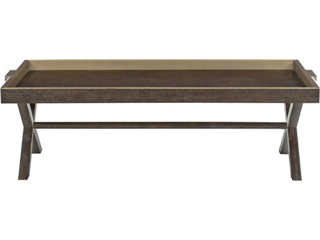 Bernhardt Clarendon Brown 58'' Wide Rectangular Coffee Table