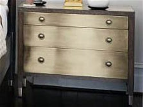 Bernhardt Clarendon Arabica / Burnished Brass 3 Drawers Nightstand BH377228