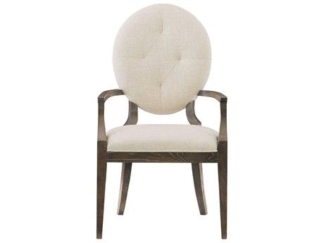 Bernhardt Clarendon White / Arabica Arm Dining Chair BH377566