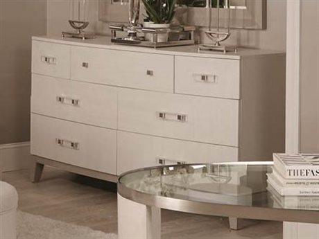 Bernhardt Axiom Linear Gray / White 7 Drawers Double Dresser BH381050