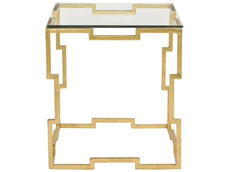 Bernhardt Bancroft Gold Leaf 24'' Wide Rectangular End Table BH411122